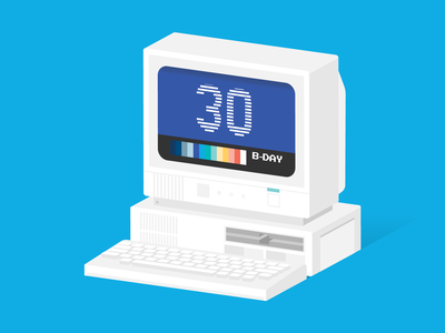 WWW's 30th Birthday 30 website keyboard white blue vintage tech internet web computer pc birthday