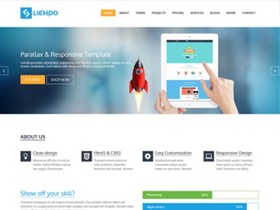 Free Landing Page Bootstrap Template By Free Themes Cloud Dribbble - Bootstrap landing page template free download