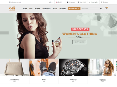Deli – eCommerce HTML Template for Fashion Shop by Free Themes Cloud ...