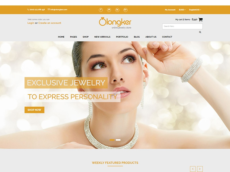 Olonkar – Free eCommerce Bootstrap Template shop online store jewelry store jewelry shop html shop template fashion store electronics store ecommerce template ecommerce