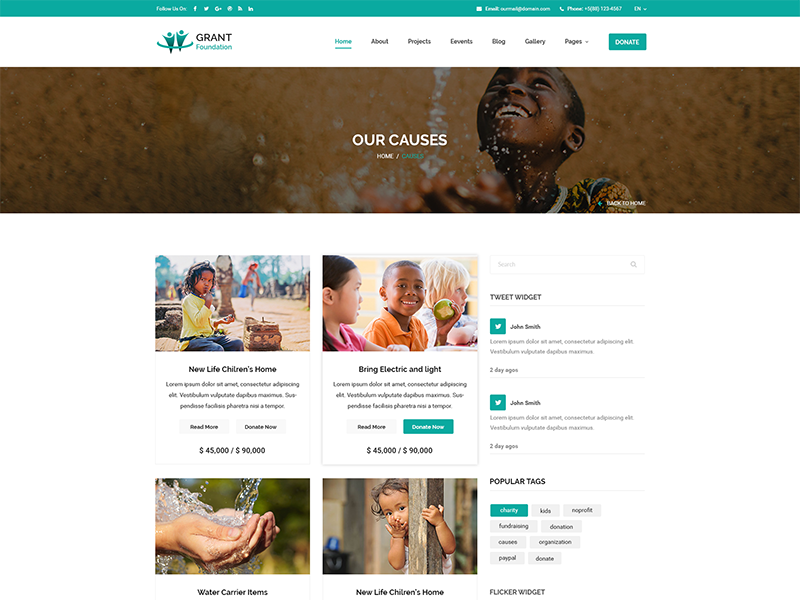 Grant Foundation PSD Template non-profit organization non-profit fund raising foundation donation donate charity cause