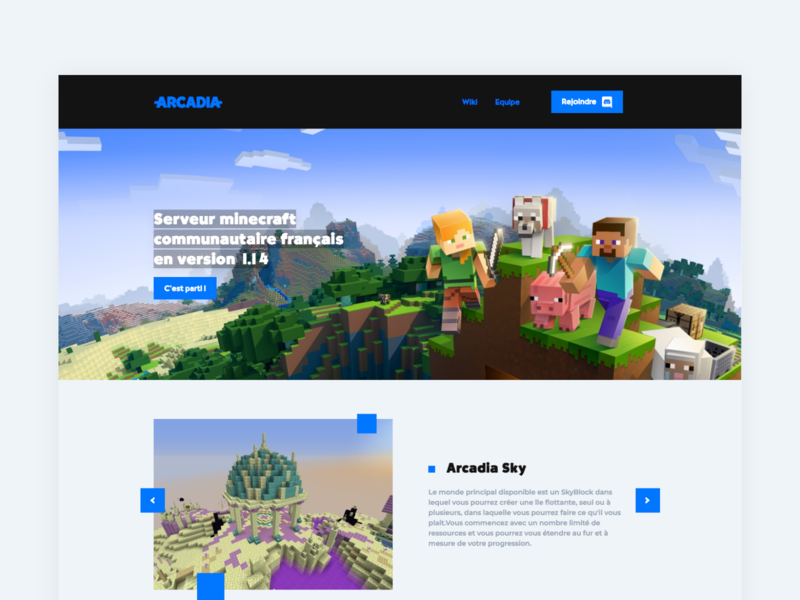 Private Server Minecraft Home page