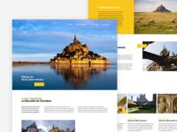 Mont Saint Michel - Webdesign concept / Home Page