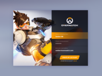 Daily UI #001 - Overwatch Sign Up
