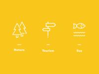 Icons Set Tourism