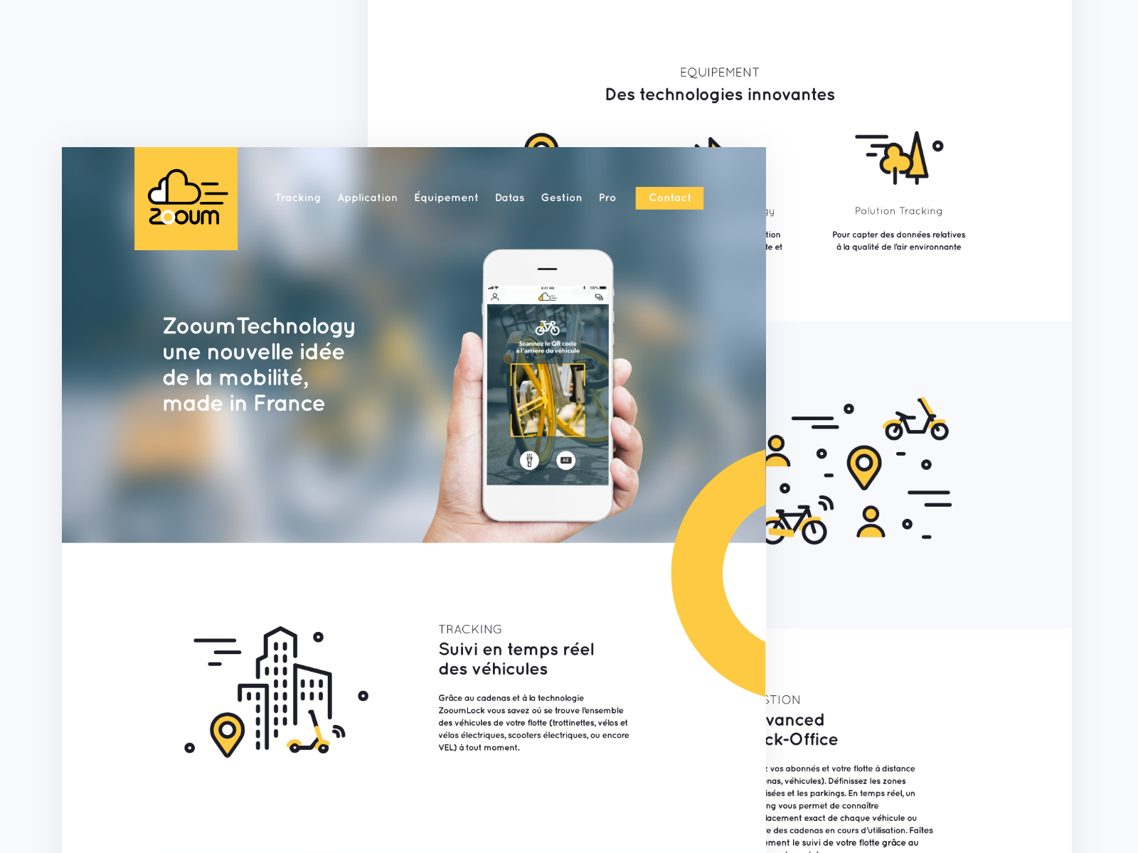 Landing Page - Mobility App mobility landing page illustration webdesign