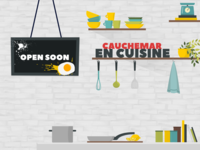 Open Soon Overlay Stream Twitch - Cooking Simulator Game
