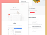 Gmail landing page redesign