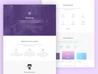 Bootstrap landing page redesign