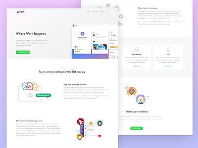 Slack landing page redesign webapp thesaas startup software redesign product page landing slack