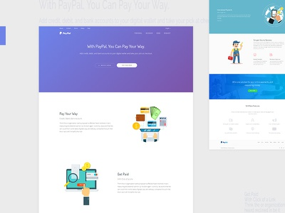 PayPal landing page redesign css html template bootstrap webapp thesaas paypal startup software design app landing