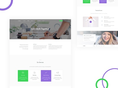 Services services saas software webapp startup business bootstrap template css html thesaas