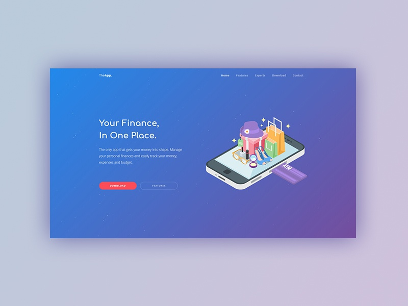Theapp finance dribbble