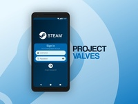 Project Valves: Login Screen