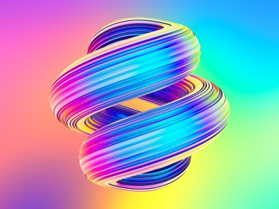 Awesome Twisted Shapes #1 neon holographic abstract fluid twisted shapes liquid illustration creative market 3dartist octanerender octane cgi 3d 3d illustration 3d art cinema 4d cinema4d c4d