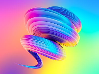 Awesome Twisted Shapes #2 graphics 3dart shape liquid neon holographic creative market octanerender octane illustration 3d illustration 3d art cgi 3d c4d cinema 4d cinema4d