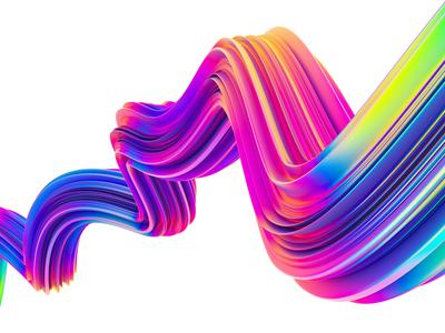 Abstract Liquid Waves #4