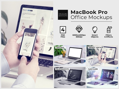 MacBook Pro Office Mockups