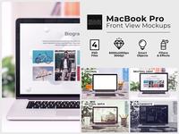 MacBook Front View Mockups