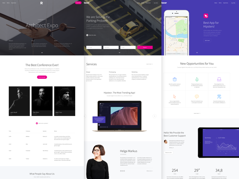 Replacer free web templates by Slice Design on Dribbble