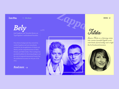 The Typography Blog - Bely font yellow interaction motion design animation motion bely type typography web design website webdesign web uxdesign uiux uxui uidesign design ux ui