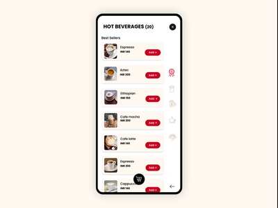 Cafe coffee day - Instore coffee booking mobile app