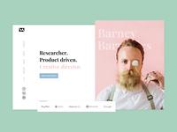 Product designer portfolio homepage