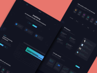 Hyper X  - Marketing platform Web design dark mode concept motion animation hero home homepage design black product dashboard advertising uiux website design neon ui marketing dark ui web design website