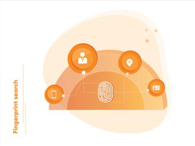 Fingerprint search - Tech illustration!