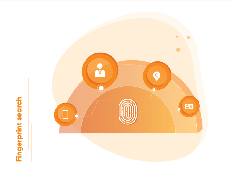 Fingerprint search - Tech illustration! product design product fingerprint technology uidesign uiux ui design art ux  ui illustration art ux design uxdesign ui design illustrations uxui ux illustration userinterface user experience