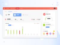 Dashboard for saving money - Finance