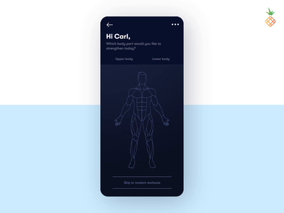 Choose your daily fitness workout! mobile mobile ui app design workouts exercise health workout app workout fitness app fitness vector designstudio appdesign app uxdesign uidesign design uxui ux ui