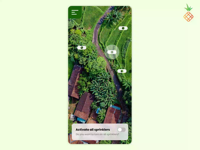 Connect all your sprinklers in the farm! water mobile mobile app app panel control agtech agriculture sprinkler farm automation farming uidesign design uxui ux ui