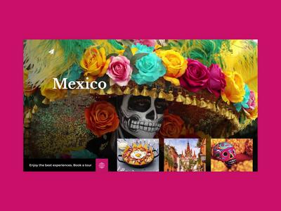 Travel to explore - Mexico traveling uxui uiux travel agency culture mexican food mexico webdesign website web travel website travelling explore city travel designstudio uidesign design ux ui