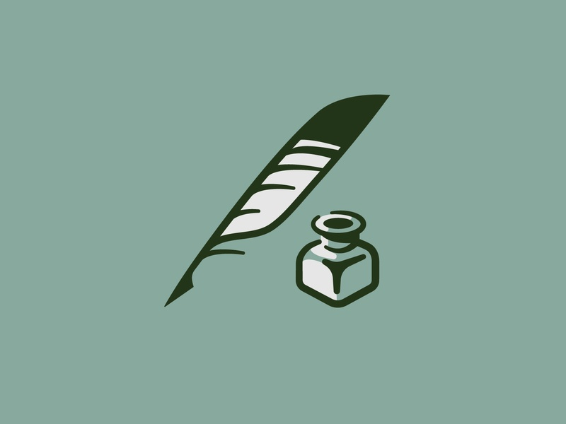 Quill and Ink Icon icon set wedding ink quill icon