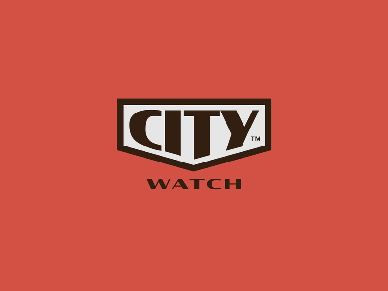 City Watch Logo clock time logo watches watch