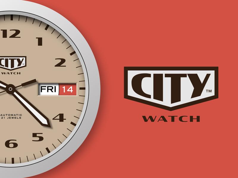 City Watch classic vintage logo watchface watch