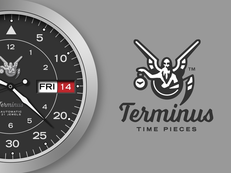 Terminus Time Pieces reaper father time time piece watch face watch