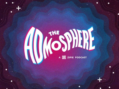 Admosphere Podcast Branding podcast marketing twilight zone branding logotype logo