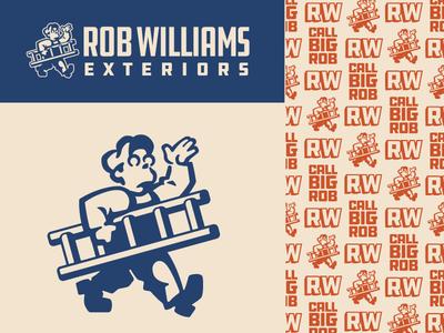 Rob Williams Exteriors Branding construction alternate pattern logo branding