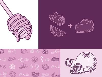 Crank & Boom Flavor Illustrations brand elements illustration flavors local business restaurant