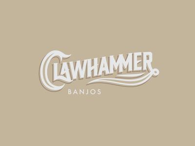 Clawhammer Banjos Logo Version 1 lettering logotype banjo logo music