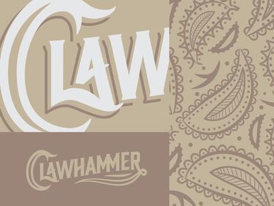Clawhammer Banjos Logo Version 1 Details clawhammer paisley banjo logo music