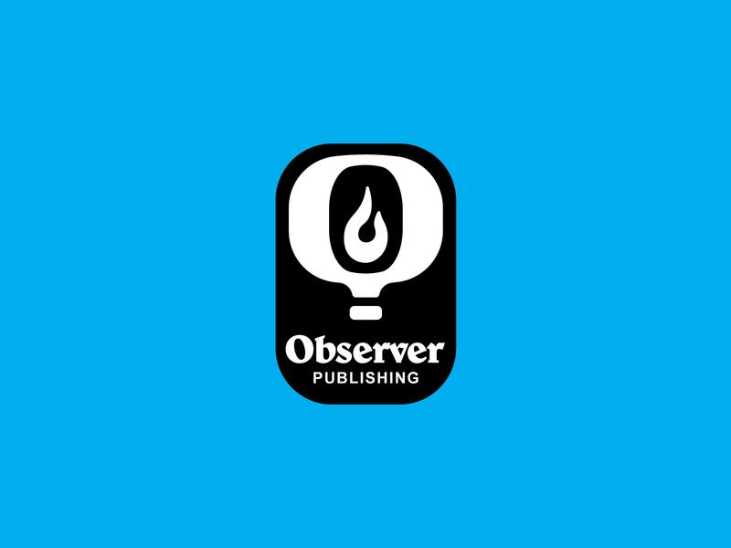 Observer Publishing Logo balloon branding logo book publishing