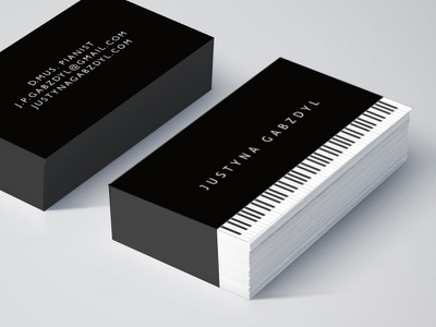 cards for a pianist cards business