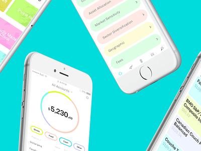 Hardbacon Investment App ux design typography app dashboard app concept mobile ios ui finance fintech
