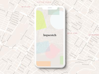 hopscotch game topography map app mobile splashscreen