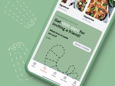 Cook it - cookbook green food ux ui mobile app