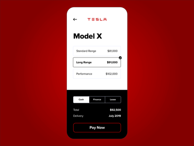 Tesla Purchase - Daily UI - Day 017
