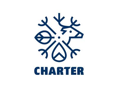 Logo for CHARTER logotype designer logo design brand logotype tools climate change arctic logo